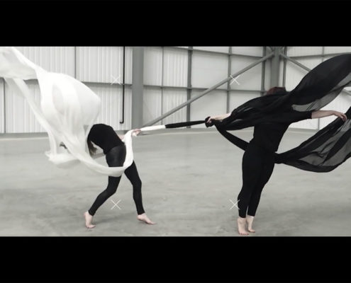 image of contemporary dancers and silk